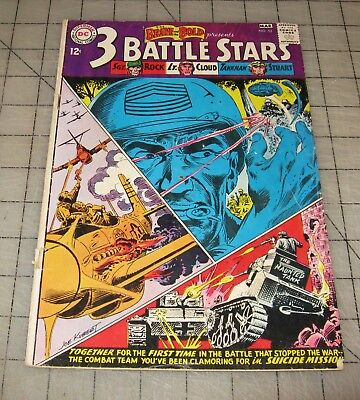 The Brave and The Bold 3 BATTLE STARS #52 (Mar 1964) Low-Grade Condition Comic