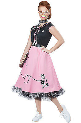 50's Sweetheart Rock N Roll Poodle Dress Adult Costume