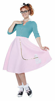 Women 50's Hop with Poodle Skirt Adult Halloween Costume