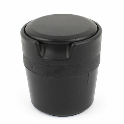 Black Plastic Cigarette Ash Ashtray Smokeless Stand Cylinder Holder for Benz