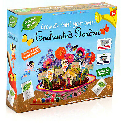 Grafix Creative Sprouts Grow & Paint Your Own Enchanted Fairy Garden Plants Pot