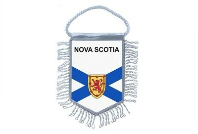 Mini banner flag pennant window mirror cars country banner canada nova scotia