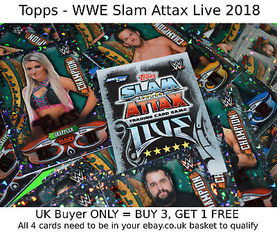 Topps WWE SLAM ATTAX LIVE 2018 Trading Card Game -SELECT YOUR- Champion Foil