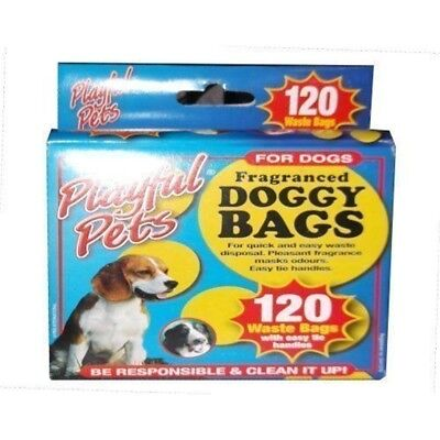 120 Pack Doggy Waste Bags In Dispenser Box. - Poo Pets x Scented Dogs Poop