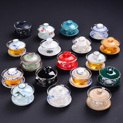 porcelain gaiwan glass tea bowl covered Chinese ceramic tureen China cup bowls