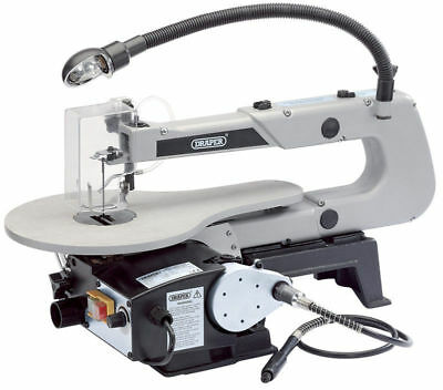 Draper 22791 Variable Speed Fretsaw 405mm 90W 230V with Flexible Drive Shaft