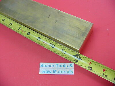"1"" x 2"" C360 BRASS FLAT BAR 12"" long Solid 1.00"" Plate Mill Stock H02"