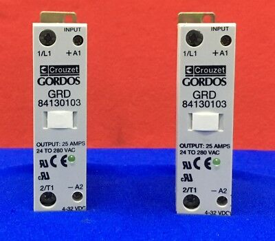 Qty 2 - Crouzet / Gordos Grd 84130103 Solid State Relays