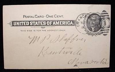 Printed Jefferson Stamp Postcard 1902 USA Pre Stamped Cancel