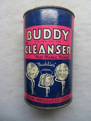 Vintage Adv Cleaner Can Kitchen Bathroom Buddy Cleanser Gleam Products Bronx