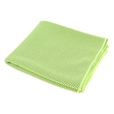 Summer Instant Cooling Towel Ice Cold Sport Neck Cooler Sports Fitness Green