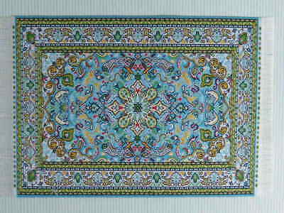 "Dolls House Miniature 1:12 Scale Woven Turkish Rug 8 7/8"" x 5 7/8"" (C)"