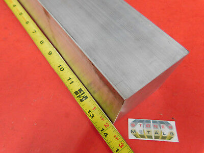"""2 Pieces 3"""" X 3"""" ALUMINUM 6061 SQUARE SOLID BAR 14"""" long T6511 Flat Mill Stock"""
