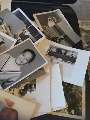 Vintage Photo Lot of  30 asst Small Pics: family people Travel kids 40s-50s