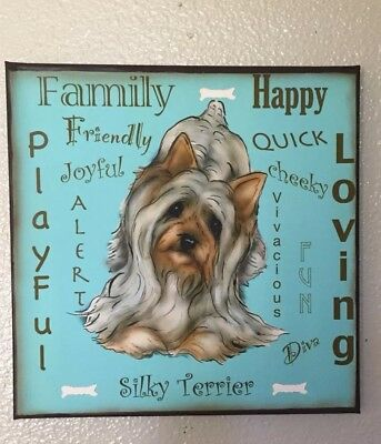 Silky Terrier  Canvas Wall Sign By  Darci