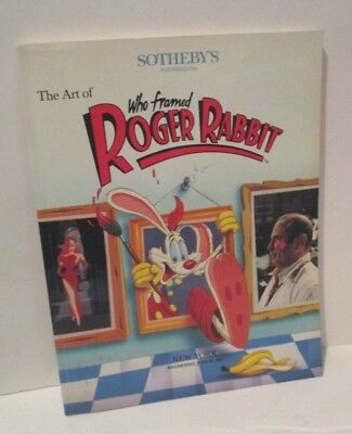 Disney's Who Framed Roger Rabbit Sothebys Auction Catalog Signed Gary K Wolf