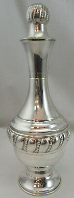 Sterling Silver 925 Liquor/ Wine Bottle With Top Modern Design 228 GRAMS