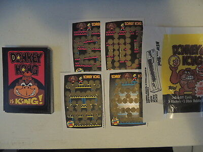 Nintendo Donkey Kong 1982 Complete Card Set With Wrapper