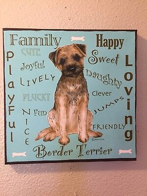 Border Terrier  Canvas Wall Sign By  Darci