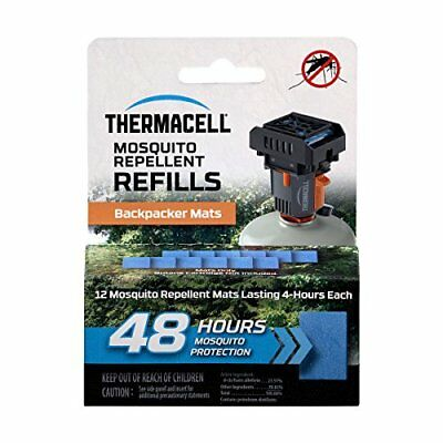 ThermacellM-48 Backpacker Mat-Only Refill 48 Hour Pack 12 Repellent Mats NEW