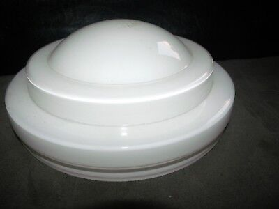 Vintage Art Deco Atomic Saturn Frosted  Glass Globe Ceiling Light Shade