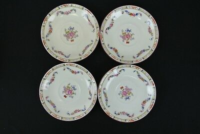 Set of Four Vintage J & G Meakin Sol Made in England 1912 Saucers, No Cup,