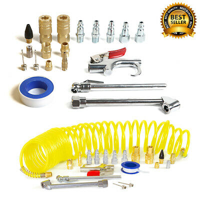 New 20pc Air Tool Compressor Blow Gun Chuck Pneumatic Accessory Accessories Kit