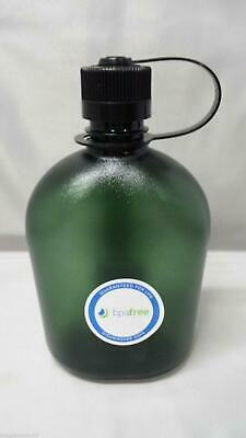 NEW Nalgene Oasis Narrow Mouth 32oz Canteen Water Bottle Foliage w/Black Lid