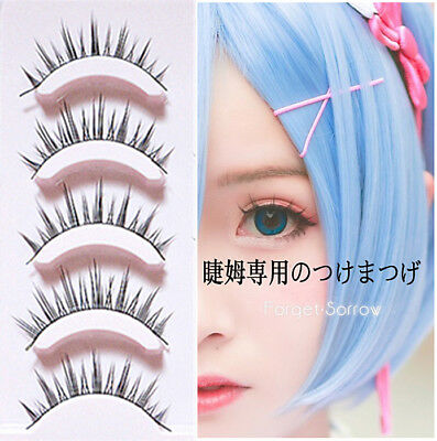 0dfcb2e806b Lolita Cosplay False Eyelashes Cross 3D 5 Pairs Eye Makeup Handmade Long  Lashes