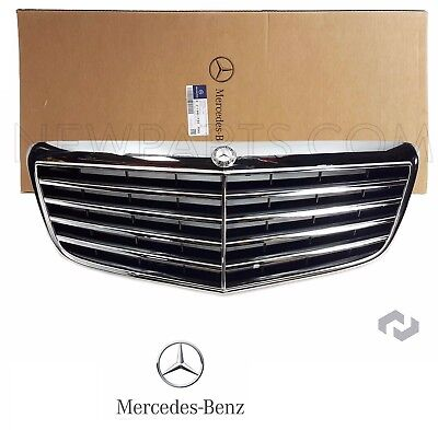 NEW For Mercedes W210 W211 E320 E500 E550 Front Center Grille Assembly Black OEM