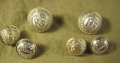 "3 ANCIENS BOUTONS* COLONIE de MADAGASCAR 15 & 20mm &  ""GARDIEN"" 16mm*Le LOT de 3"