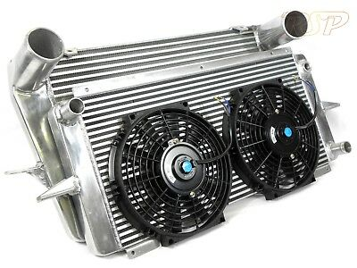 Uprated Alloy Intercooler + Radiator With 2 Fans Ford Sierra RS Cosworth 2wd/4x4