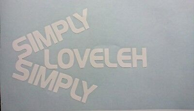 """simply Simply Loveleh"" Lovely Car Van Panel Bumper Sticker Decal Camper T5 T4"