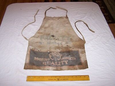 Vintage PAWLEY'S Lumber ST BERNICE INDIANA Nail Apron FORD ROOFING COMPANY