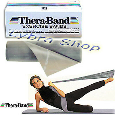 Thera-Band banda ELÁSTICA PLATA 1, 5 m (Ultra durable) banda pilates músculos