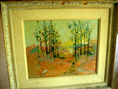 Vintage Signed Impressionist Oil Painting On Linen Frame Made In Sweden Stamped