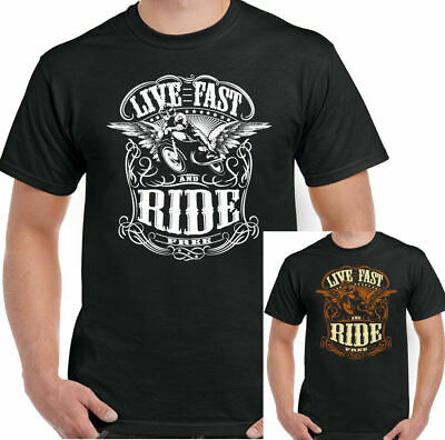 Live Fast Ride Free Mens Funny Biker Hoodie Motorbike Motorcycle Bike Indian