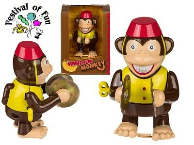 Wind Up Cymbal Clapping Monkey  ~ Classic Retro Novelty ~ Clockwork Toy Gift
