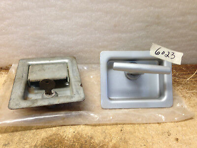 Steel Flush T Handle Cam Latch Lock  1 Has Key  and 1 Gray w Handle