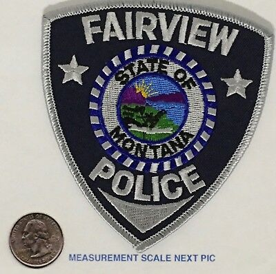 Fairview Montana Police Shoulder Patch Unused  Black Twill