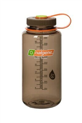 Nalgene Wide Mouth 32oz Loop Top Water Bottle Woodsman w/Brown Lid BPA Free