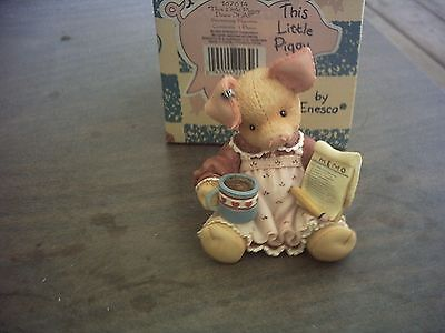 1995 This Little Piggy Does It All Figurine With Box And Coa