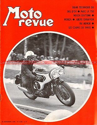MOTO REVUE 1995 HONDA CR 750 DAYTONA CB 750 Four Bol d'Or Grand Prix MONZA 1970