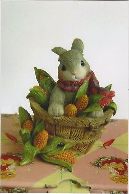 1996 My Blushing Bunnies-Sweet Basket Of Blessings With Coa And Box