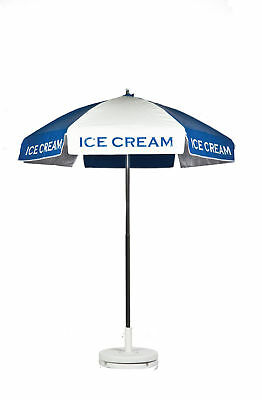 Ice Cream Vendor Cart Concession Umbrella With Tilt