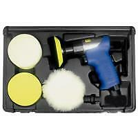 Astro Pneumatic 3055 3 in. Mini Air Polishing Kit w/ Pads and Case