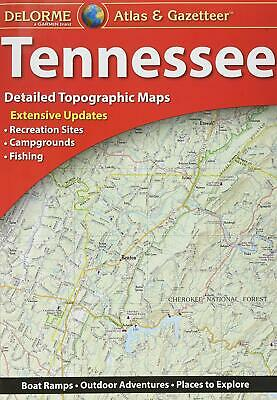 Delorme Tennessee TN Atlas & Gazetteer Map Newest Edition Topo / Road Maps