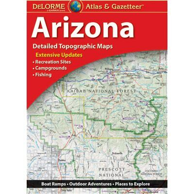 Delorme Arizona AZ Atlas & Gazetteer Map Newest Edition Topographic / Road Maps