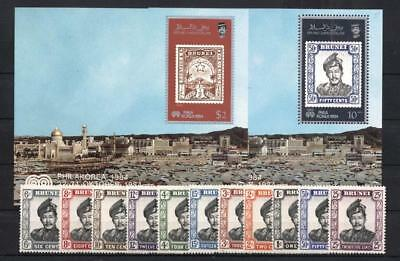 (952492a) Stamp on Stamp, Royalty, Small lot, Brunei - odd values -