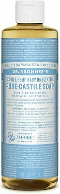 Dr Bronner's Pure-Castile Soap 16oz Baby Mild Concentrated/Organic/Fair Trade